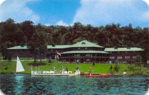 Old Forge New York~First Lake Waterfront~Hollywood Hills Hotel~Canoe~Dock~1960s