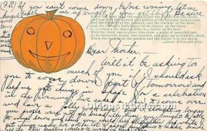 Halloween Postcard Old Vintage Post Card Published by The Milton Smith CO 1907