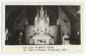 RPPC of Our Lady of Mercy Chapel St. Paul's Cleveland Ohio OH