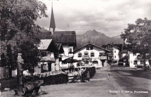Dorfstrasse Seefeld Real Photo Austria Postcard