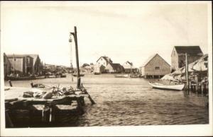Nova Scotia Harbor - Peggy's Cove Real Photo Postcard