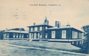 Hospital at Clearfield PA, Pennsylvania - pm 1912 - DB