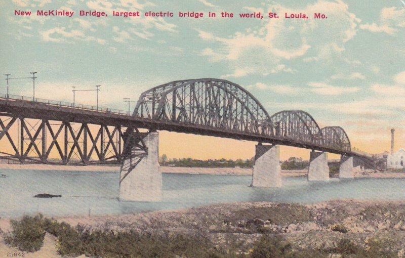 ST. LOUIS, Missouri, 1900-1910's; New McKinley Bridge, Largest Electric Bridg...