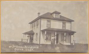 RPPC- Cupar, Saskatchewan, Mr. Jno. Hubbs Residence