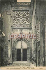 Postcard Old 34 montferrand church our lady of the issuance portal