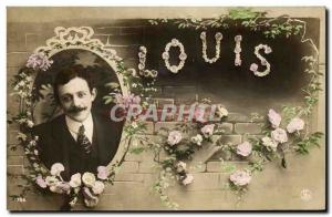 Old Postcard Fancy Surname Louis
