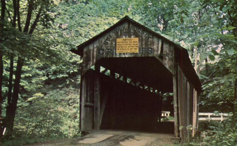 Teagarden or Centennial Covered Bridge - Little Beaver Creek, Lisbon, Ohio