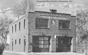 Chepachet Rhode Island Fire Station Vintage Postcard JA4741949