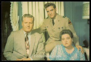 Elvis with his mother Glady's and father Vernon