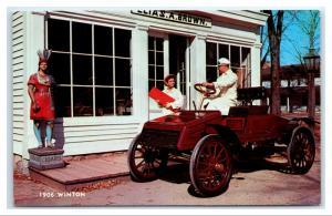 Postcard 1906 Winton Antique Car Indian Statue Cigars Tobacco I2