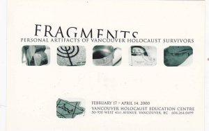 Fragments Personal Artifacts of Vancouver Holocaust Survivors,  Vancouver, B....