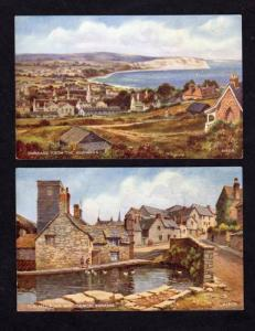 UK Lot 2 SWANAGE POSTCARDS Quarries Dorset England