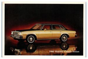 1980 Chevy Malibu Classic Sedan Postcard