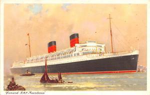 Cunard RMS Mauretania Ship Unused