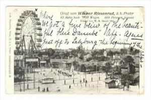 Gruss vom WIENER RIESENRAD, k.k. Prater, Austria, PU-1904