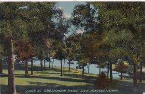Iowa Des Moines Lake At Greenwood Park 1912
