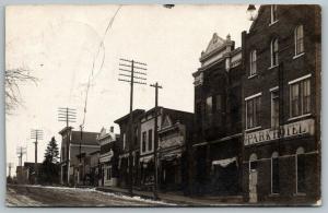 Preston Minnesota~Park Hotel~Post Office~Times Newspaper~Masonic Hall~1908 RPPC