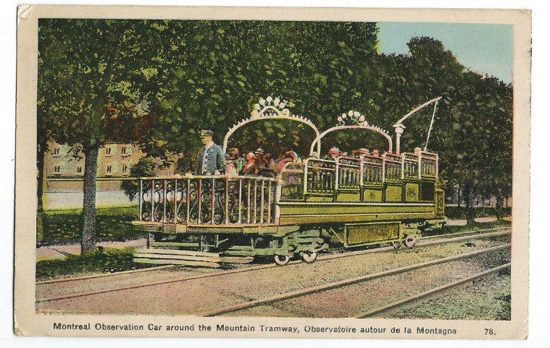 c1941 Montreal Observation Car around the Mountain Tramway, Montreal Canada