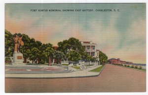 Charleston, S.C., Fort Sumter Memorial Showing East Battery