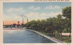 Indiana South Bend Howard Park And Saint Joseph River
