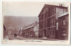 P424 JL old photo postcard station street treherbert opera house Wales