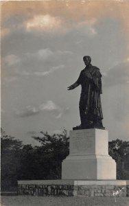 G45/ Yellow Springs Ohio RPPC Postcard c1940s Horace Mann Monument Antioch