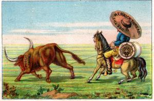 VICTORIAN TRADE CARD, MERRICK THREAD