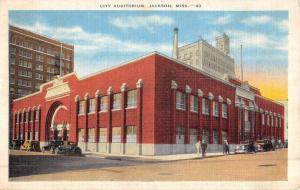 Jackson Mississippi City Auditorium Street View Antique Postcard K49153