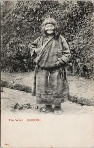 The Witch of Ghoom India Postcard E59