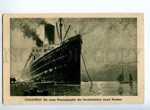 190276 NORDDEUTSCHEN LLOYD BREMEN ship COLUMBUS Old postcard
