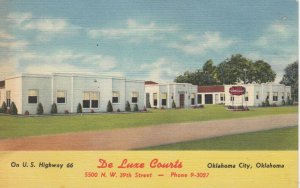 OKLAHOMA CITY, 30-40s ; De Luxe Courts ; Route 66