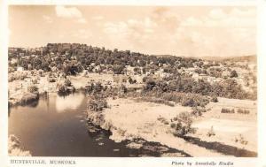 Huntsville Muskoka Canada Birds Eye View Real Photo Antique Postcard J71264