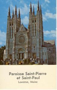 Lewiston, Maine/ME Postcard, Paroisse Saint-Pierre & St-Paul