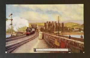 Mint Euston North Wales Non Stop Express British Railroad Illustrated Postcard