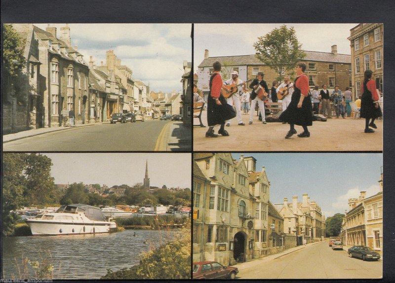 Northamptonshire Postcard - Views of Oundle   EE291