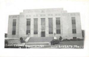 LPSS63 Liberty Missouri Clay County Court House Postcard RPPC