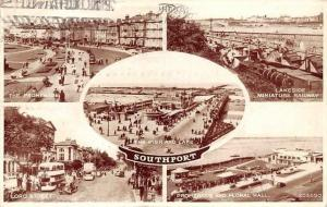 Southport Promenade Pier Lakeside Miniature Railway Lord St. Floral Hall 1946