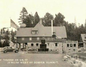 Vintage RRPC Rainbow Tavern U.S. Route 40 Donner Summit, CA Postcard P91