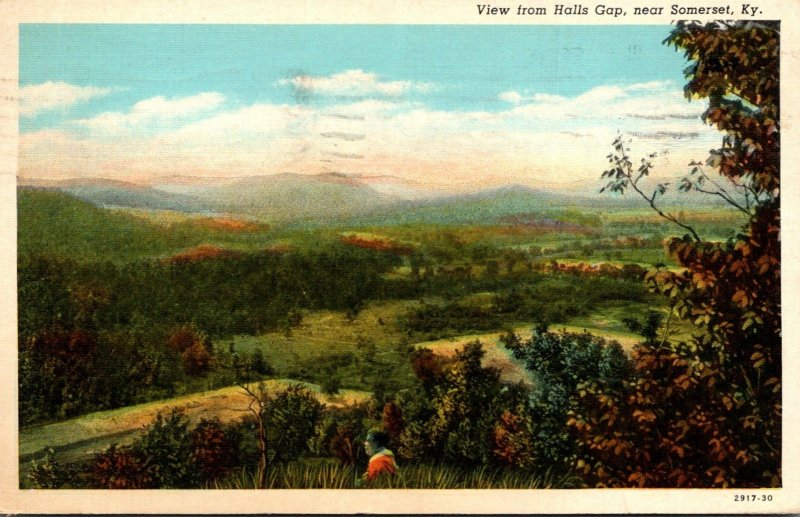Kentucky Somerset View From Halls Gap 1941  Curteich