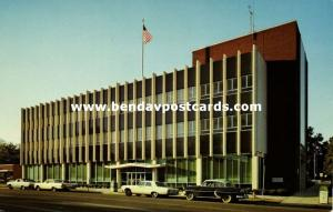 Tupelo, Mississippi, Main Street, Federal Building, Cars (1950s)