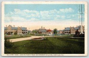 Danville Illinois~Soldiers' Home North @ Government Building~1917 Postcard