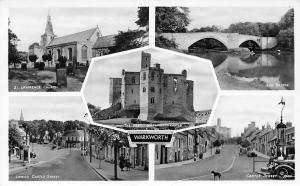 Warkworth, St. Lawrence Church, Bridge, Lower Castle St. Auto Cars Multiviews