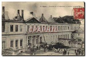 Old Postcard Firefighters Fire Agen Prefecture of October 21, 1904