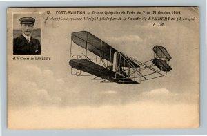 French Aviation Postcard - Port-Aviation Grande Quinzaine de Paris 1909 Lambert