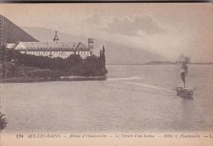 France Aix les Bains Abbaye d'Hautecombe Le Depart d'un bateau