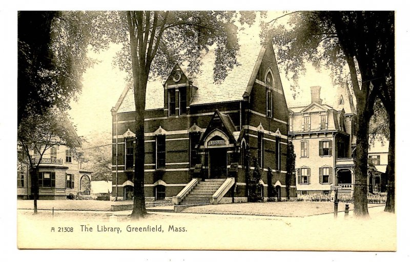 MA - Greenfield. The Library