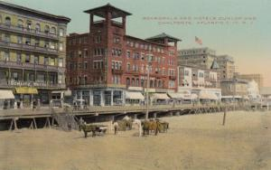ATLANTIC CITY , New Jersey , 00-10s ; Boardwalk and Hotels Dunlop & Chalfonte