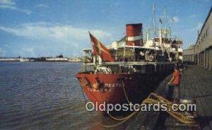 Along The Waterfront, New Orleans, Louisiana, LA USA Steam Ship Unused