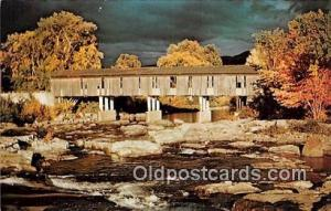 Essex County CB, Jay Covered Bridge Jay, NY, USA Unused