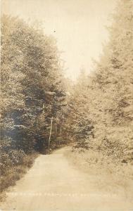West Baldwin Maine~Road To Dyke Farm~c1914 Sepia Real Photo Postcard